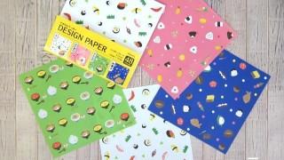 セリア新商品 デザインペーパー JAPANESE FOOD