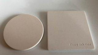 【セリア】新商品☆真っ白シンプルでオシャレ♡スクエア型の吸水コースター♪
