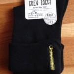 ダイソー新商品 刺繍入りソックス ジッパーを購入しました