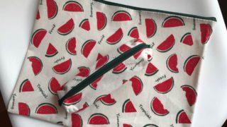 【セリア】新商品☆この夏のトレンド!スイカ柄のファスナーケースとペンケースを購入しました♪