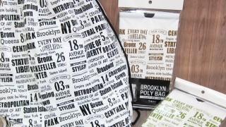 セリア新商品 ショルダー型ポリ巾着ブルックリン