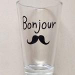 ダイソー新商品 Bonjourおひげ柄のデザイングラスを購入しました