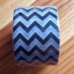 セリア新商品 シェブロン柄のモノトーンなマスキングテープを購入しました