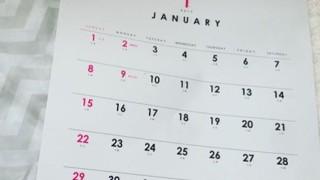 セリア新商品 2017年のシンプルな壁掛けカレンダーを購入しました