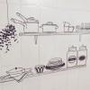 キャンドゥ おしゃれなキッチン壁用シート