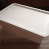 ダイソー新商品 真っ白なスクエア収納ボックス(大)を購入しました