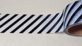 セリアでモノトーンなストライプ柄のマスキングテープを購入しました