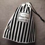 セリア新商品のおしゃれなモノトーンミニポリ巾着を購入しました