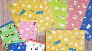 セリア新商品 日本食のイラストがとってもかわいい!デザインペーパー ジャパニーズフード2&ぷち袋