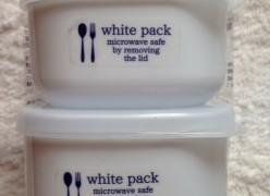 セリア新商品 真っ白なタッパー「ホワイトパック」を購入しました