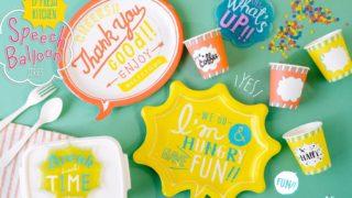 セリア新商品☆遊び心満点!吹き出しデザインのテーブルウェア