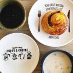 キャンドゥ☆とってもオシャレなカフェ柄のプレート