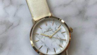 【ダイソー】大理石柄フェイスの高見え腕時計が大人気!