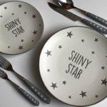 ダイソーの【星柄食器】が新商品のカトラリーとベストマッチ☆