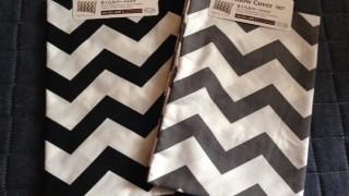 ダイソー新商品 シェブロン柄の枕カバーギザギザを買い足しました