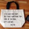 手書き風ロゴがオシャレ!セリア新商品のナイスデーランチバッグを購入しました